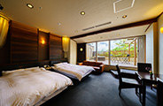 Special rooms with private hot spring