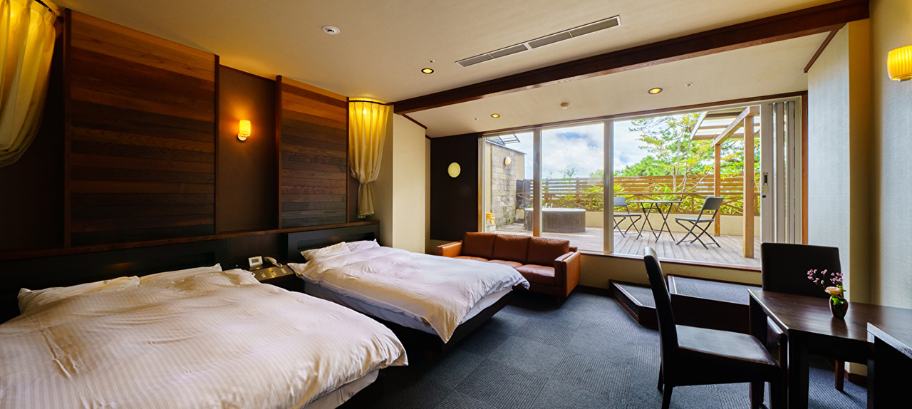 Special rooms with private hot spring MER