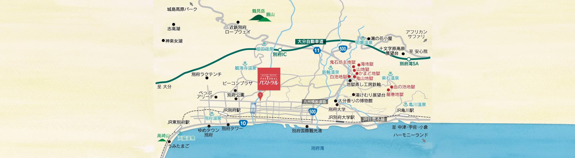 近郊観光マップ